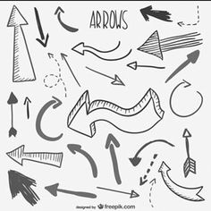 Mind Maps 394979829805476720 - Sketchy arrows collection Free Vector Source by xlijian Bullet Journal School, Bullet Journal Ideas Pages, My Journal, Bullet Journal Inspiration, Mind Map Art, Mind Maps, Mind Map Design, Visual Note Taking, Arrow Drawing