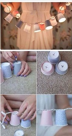 Cute Paper Cup Fairy Lights