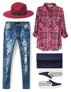 street style by ecem1 on Polyvore featuring polyvore, fashion, style, Vince, John Lewis and Bebe