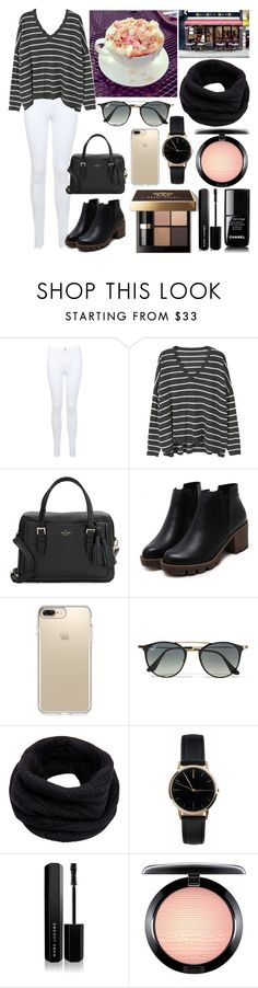 """""""Spending the morning in a cafe."""" by duchessamparo ❤ liked on Polyvore featuring Miss Selfridge, MANGO, Kate Spade, Speck, Ray-Ban, Helmut Lang, Freedom To Exist, Bobbi Brown Cosmetics, Marc Jacobs and MAC Cosmetics"""