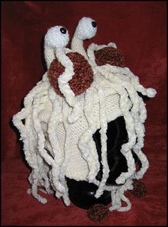 Crocheted Flying Spaghetti Monster Hat (via http://io9.com/5717724/the-greatest-otherworldly-knitting-patterns/)