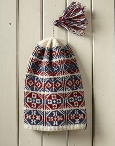 Crochet Beanie, Knit Crochet, Crochet Hats, Wooly Hats, Knitted Hats, Fair Isle Knitting, Hand Knitting, Fair Isle Pattern, Fair Isles