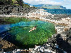 Queens Bath in Princeville, Hawaii