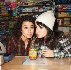Ilana & Abbi from my current TV obsession 'Broad City'.  I\