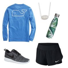 """""""Going For A Run♀️"""" by apmccallop on Polyvore featuring NIKE, Kendra Scott and S'well"""