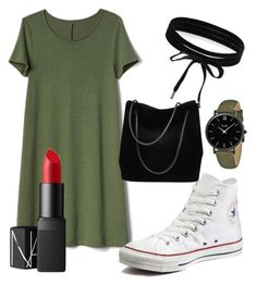 """""""Untitled #46"""" by hopesmith-3 ❤ liked on Polyvore featuring Gap, Converse, Boohoo, CLUSE, NARS Cosmetics and Gucci"""