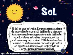 SISTEMA SOLAR para niños de Primaria (2) - Imagenes Educativas Sunday School Activities, Preschool Activities, Sistema Solar 3d, Spanish Classroom, Science, Kids Education, Pre School, Outer Space, Solar System