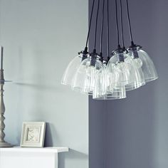 olson seven glass pendant light by rowen & wren | notonthehighstreet.com