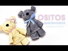 DIY : Ositos hechos con toalla facial *Babyshower* - Brotes de Creatividad, My Crafts and DIY
