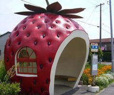 Bus Stand Designs Based On Fruit Theme