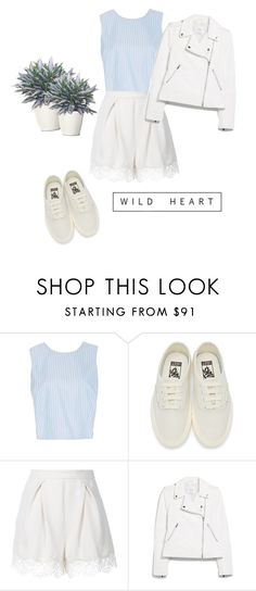 """WHITE'N blue"" by sabrinaballe ❤ liked on Polyvore featuring MDS Stripes, Vans, Zimmermann and MANGO"