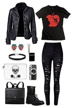 """""""Death Note"""" by lucy-wolf ❤ liked on Polyvore featuring WithChic, Steve Madden, BillyTheTree, Monki and Casetify"""