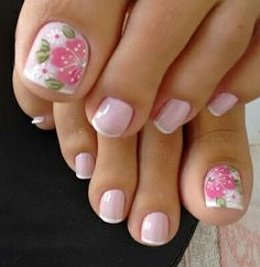 68 Ideas for pedicure nail art designs toenails pink Bridal Nails Designs, Pedicure Designs, Pedicure Nail Art, Toe Nail Designs, Toe Nail Art, Pretty Toe Nails, Cute Toe Nails, Fancy Nails, Pink Toe Nails