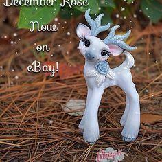 December Rose is now live on EBay! Find her and Kringle in bio link ❄️ #deer #antlers #frost #winter #fawn #fantasy #spiritanimal #cuteanimals #sparkle #artdoll #dollstagram #artsy