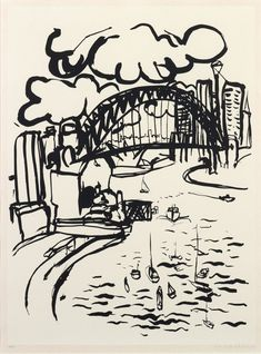 View Sydney Harbour by Brett Whiteley on artnet. Browse upcoming and past auction lots by Brett Whiteley. Dancing Drawings, Art Drawings, Art Sketches, Avant Garde Artists, Urban Sketchers, Indigenous Art, Australian Artists, Aboriginal Art, Magazine Art