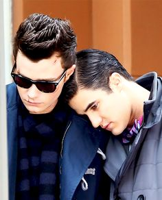Blaine and Kurt <3.  Omg I just noticed the scars on Kurt's face from the BASH episode, I'm gonna cry ):