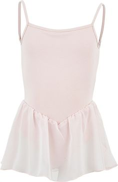 Girls Bloch CL3977 Pink Blossom Camisole Ballet Dance Leotard With Skirt