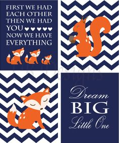 Orange and Navy Blue Fox/Woodland Nursery Quote Print by LJBrodock, $35.00 Fox Nursery Decor, Woodland Nursery Decor, Fox, Pottery Barn Nursery, Nursery Decor, Owl Nursery, Nursery Art
