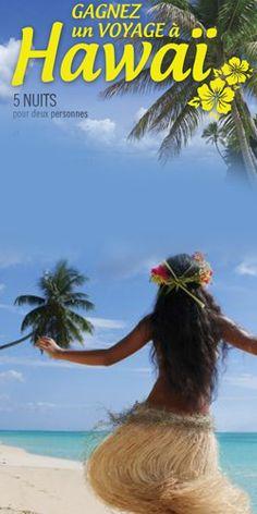 Gagnez un des voyages de rêve à Hawaii. Fin le 2 novembre.  http://rienquedugratuit.ca/concours/voyages-de-reve-a-hawaii/