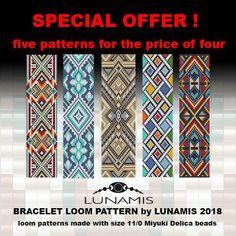Bracelet pattern loom pattern square stitch pattern pdf