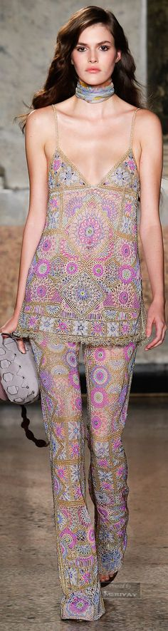 70s inspiration for Italian brand EMILIO PUCCI, Spring/Summer 2015