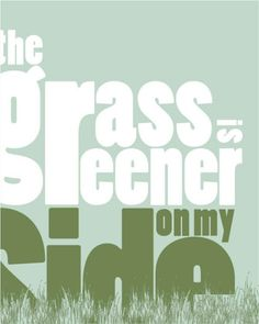 the grass is greener on my side
