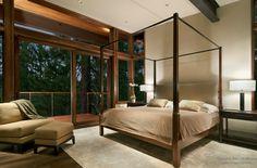 Стильная и роскошная бежевая спальня