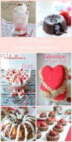 Quick and Easy Valentine Desserts