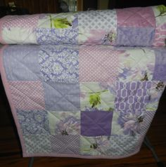 Large Crib Sized Modern Baby Quilt Lap Quilt or by QuiltsbyDSJ