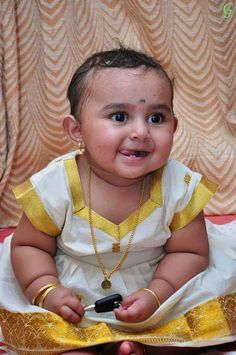 Baby Picture Kerala Traditional Dress
