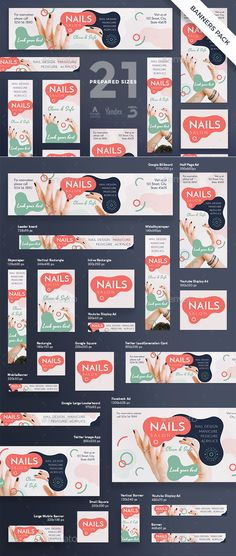 Nail Design Salon Banner Pack