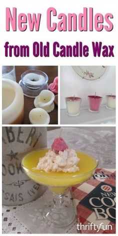 Making Candles from Old Candle Wax - Candles - Ideas of Candles - This is a guide about making candles from old candle wax. Save your scrap candle wax and use it to make new candles; it is a thrifty and green way to have lots of them around your home. Diy Candles Scented, Bath Candles, Homemade Candles, Aromatherapy Candles, Homemade Soaps, Candle Craft, Candle Wax, Soy Wax Candles, Soy Candle Making
