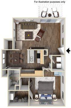 Scandia apartments have six floor plans, carports & garages ...