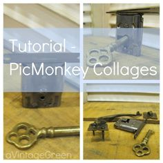 a Vintage Green: Tutorial - PicMonkey Collages