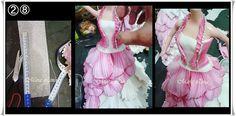 Aqui esta como prometido!!!          Materialnecessário:    01 boneca  01 garrafa pet  Eva 03 folhas branca  Eva 01 folha rosa  Colain...