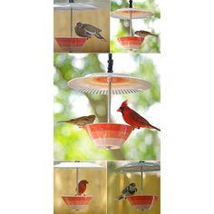 Vogelhäuschen aus Teller und Schale