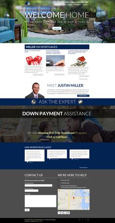 MillerOnMortgages.com Custom, responsive mortgage website