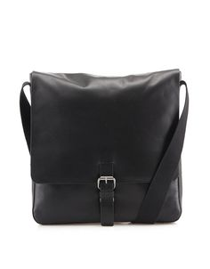 Strellson - Černá kožená pánská taška messenger  Scott MV - 1 Messenger Bag, Satchel, Notebook, Backpacks, Bags, Handbags, Backpack, The Notebook, Crossbody Bag
