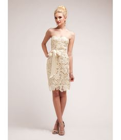 2014 Prom Dresses - Gold Nude Lace Cocktail Dress (40651-CIN1467) van Cinderella Divine Moto - This sexy cocktail dress...Price - $74.00-8CeJgv6o