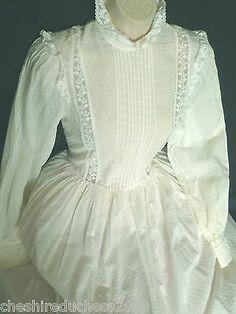 ROMANTIC VINTAGE LAURA ASHLEY LATE VICTORIAN/EDWARDIAN STYLE WEDDING/DRESS, 6/8 | eBay