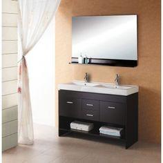 resin top 48-inch double sink bathroom vanity setlegion