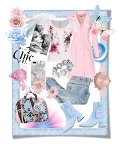 A fashion look from February 2018 featuring embroidered top, pink coats and Balmain. Browse and shop related looks. Olivia Burton, Irene, Balmain, Venus, Fashion Looks, Coat, Polyvore, Pink, Shopping