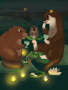 Celebrating a clean lake Animal illustration by Jonna Markkula