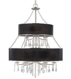 Golden Lighting Echelon Two tier chandelier GL-8981-9-GRM