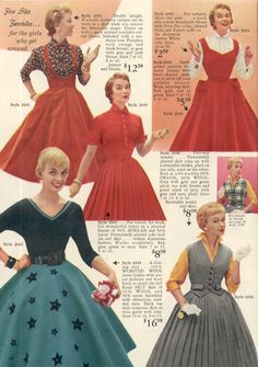 All brides dream about finding the perfect wedding day, but for this they require the ideal bridal wear, with the bridesmaid's outfits actually complimenting the brides-to-be dress. Here are a few tips on wedding dresses. 1960s Fashion, 50 Fashion, Fashion History, Vintage Fashion, Vintage Style Dresses, Vintage Outfits, Bridesmaid Outfit, Full Skirts, Mode Vintage