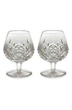 Waterford 'Lismore' Lead Crystal Balloon Brandy Glasses (Set of 2)