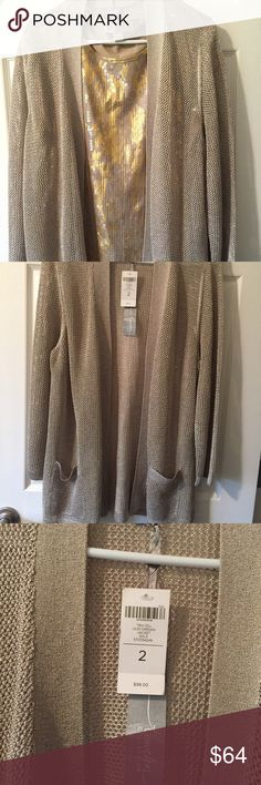 NWT Chico Travelers cardigan gold 2 Tray Coll Jules cardigan jacket gold  Size 2 $99 Chico's Sweaters Cardigans