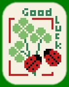 Lucky Charm ladybug and clover free cross-stitch pattern graph