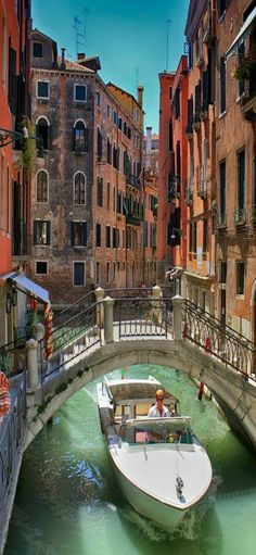 One of my favorite cities. Just a unique feel and vibrant atmosphere. Venice Canals, Venice, Italy by Bruno Carlos #Europe