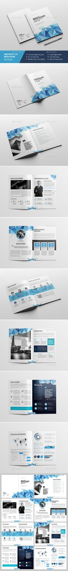 Blue triangle Vector annual report Leaflet Brochure Flyer template - business annual report template
